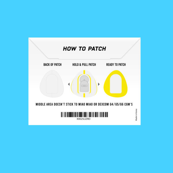 Dexcom G4/G5/G6 and MiaoMiao yellow patches instructions Not just a patch