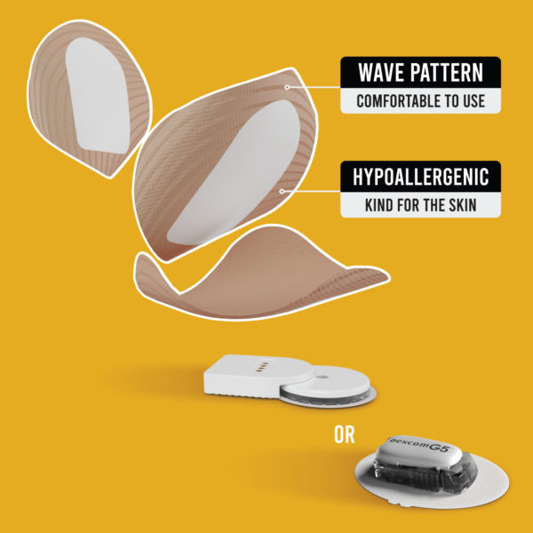 Dexcom G4/G5/G6 and MiaoMiao beige patches benefits Not just a patch