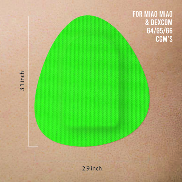 Dexcom G4/G5/G6 and MiaoMiao green patches skin preview Not just a patch