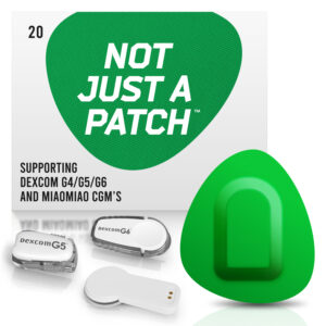 Green Dexcom G4/G5/G6 adhesive patches and MiaoMiao Not just a patch