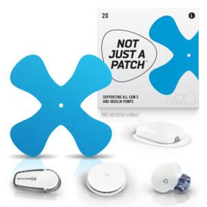 blue cgm patch