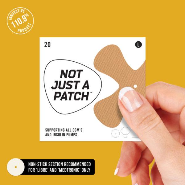 cgm patch beige