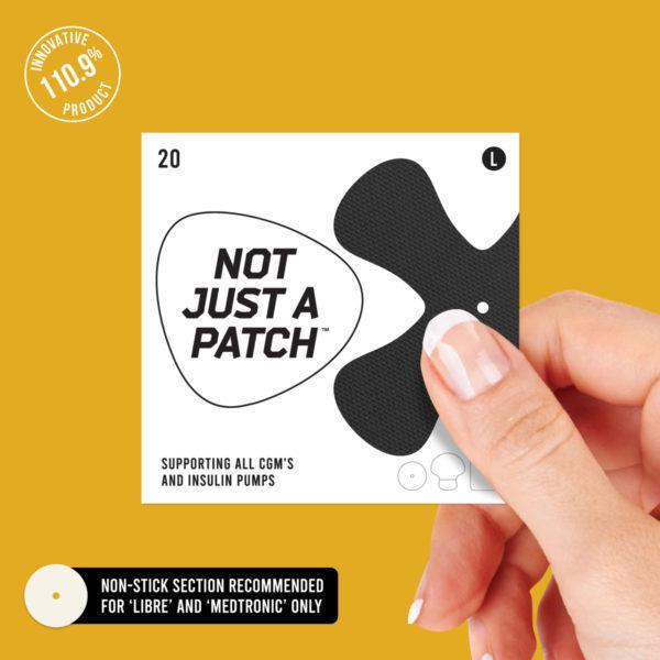 black cgm patch